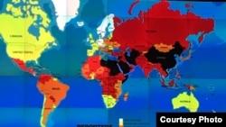 2017年世界新闻自由地图