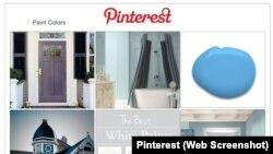 Exemple d'un tableau de bord Pinterest