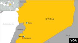 시리아 수도 다마스쿠스와 인근 아드라