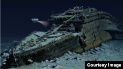 Снимок обломков «Титаника», предоставленный в пресс-релизе туристической компании Blue Marble Private