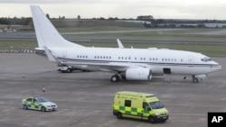 An ambulance carrying injured Pakistani teenager Malala Yousufzai leaves Birmingham airport, England on Oct. 15, 2012.