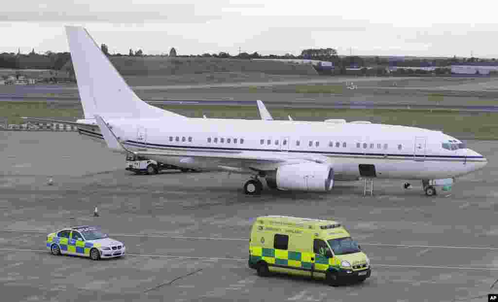 The ambulance carrying Malala Yousufzai leaves Birmingham airport, England, Oct. 15, 2012.