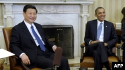 Prezident Barak Obama Xitoy vitse-prezidenti Shi Tsinping bilan, Oq Uy, Vashington, 14-fevral 2012