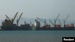 Vue du port de Djibouti, le 23 avril 2017