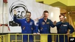 聯合號宇宙飛船將美俄兩國三名宇航員送到國際太空站