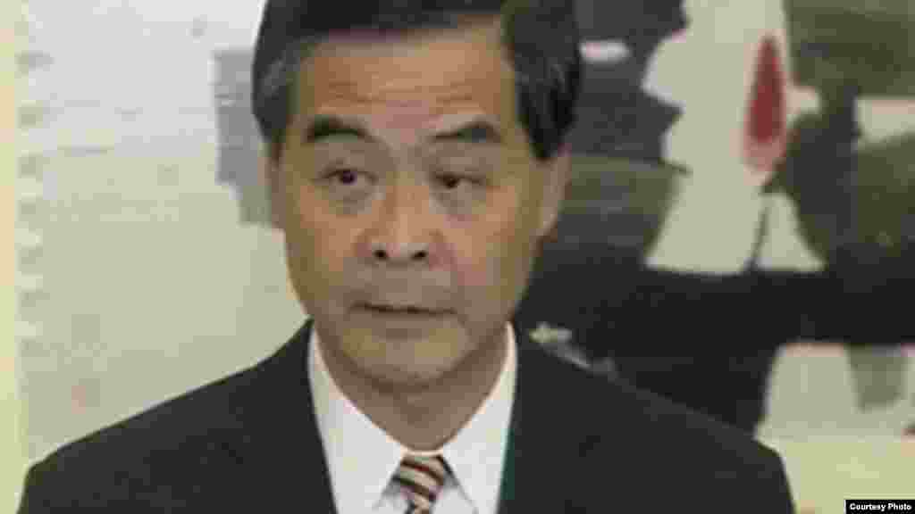 Leung Chun-ying, commonly known as CY Leung, chief executive of Hong Kong, appointed July 1, 2012. (screen grab from Channel 4, UK television, Oct. 2, 2014)