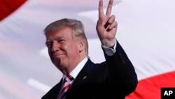 Donald Trump, président élu des Etats-Unis, lors de la Convention républicaine, Cleveland, 29 juillet 2016