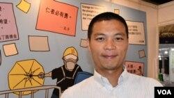 香港浸會大學新聞系高級講師呂秉權擔心未來的言論空間,他會更小心緊慎, 但強調發表言論時不可以違背良心。(美國之音湯惠芸)
