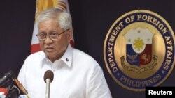 菲律賓外交部長羅薩里奧較早前對媒體表示將南中國海爭端提請國際仲裁。