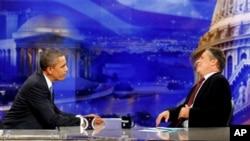Başkan Obama dün gece komedyen Jon Stewart'ın şovuna konuk oldu (Arşiv görüntü)