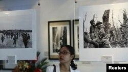 Một cuộc triển lãm ảnh về chiến tranh Việt Nam tại Hà Nội.