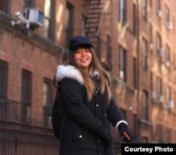Vinia Agnessia datang ke New York pada November setelah memenangkan lotere kartu hijau. (dok. pribadi)