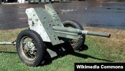 Советская противотанковая пушка калибра 45мм. Wikimedia Commons. Author: User: Balcer. Photo taken July 14, 2006