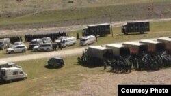 中國青海省玉樹州藏民抗議採礦, 8月16日軍警進駐(來源:自由西藏網頁)