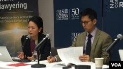 澳大利亞國立大學戰略政策研究教授吳翠琳(左)(美國之音資料照)