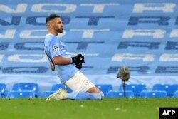 Manchester City takımı oyuncusu Riyad Mahrez