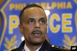 FILE - Philadelphia Police Commissioner Richard Ross speaks at a news conference in Philadelphia, Jan. 8, 2016.
