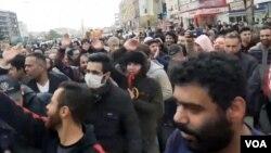 تصویری از اعتراضات به گرانی بنزین در فردیس کرج