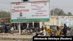 Campagne anti-corruption, Kano, Nigeria, le 19 janvier 2016.