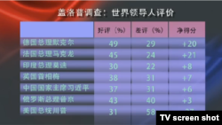 VOA连线(许宁):2017盖洛普民调,11国领导人印象排名