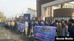 ایران کے شہر اہواز میں مزدورں کی ہڑتال