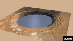 Animacija kratera na Marsu