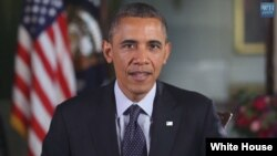 A screen grab from President Barack Obama's weekly address (whitehouse.gov)