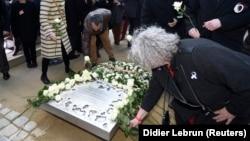 Commémoration des attentats de Bruxelles le 22 mars 2017.