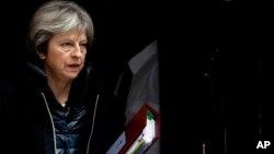 Britanska premijerka Tereza Mej, 14. mart 2018.