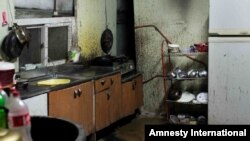This image of kitchen facilities for migrant agricultural workers in South Korea was included in Amnesty International's report, Bitter Harvest.