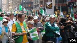 支持台灣加入聯合國的示威者在紐約市集會 (資料圖片)