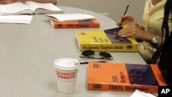 ေဘာ္စတြန္က TOEFL သင္တန္းေက်ာင္းျမင္ကြင္း။