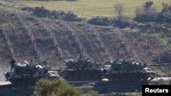 پیشروی تانک های ترکیه در شمال غرب سوریه