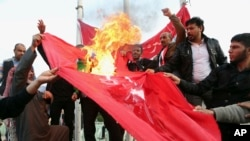 Aralık ayında Irak'ta Türk askerlerinin Irak'ta bulunması protesto edilmişti