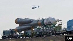 """Российская ракета """"Союз"""" сегодня единственное средство доставки астронавтов на МКС."""
