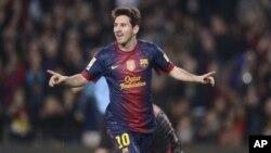 Pemain sepakbola Argentina Lionel Messi yang bermain untuk klub Barcelona. (Foto: Dok)