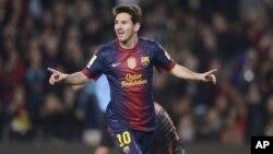 Lionel Messi harus absen dalam 3 pertandingan sisa Barcelona di La Liga, Spanyol (foto: dok).