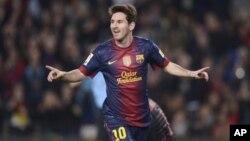 Keinginan Messi untuk menyamai rekor Gerd Mueller mencetak 85 gol dalam setahun kalender mungkin tidak tercapai karena ia tidak diturunkan dalam pertandingan Rabu lawan Benfica (foto: dok).