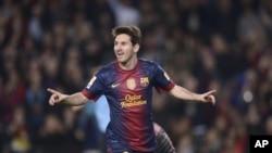 Lionel Messi menyepakati kontrak baru dengan klub Barcelona yang berlaku hingga tahun 2018 (Foto: dok).