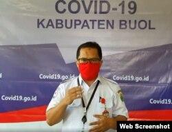 Dokter Arianto S Panambang, juru bicara Gugus Tugas COVID-19 Buol. (Foto: Screenshot facebook Diskominfo Buol )
