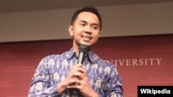Andi Taufan Garuda Putra, saat menjadi salah satu pembicara di seminar Universitas Harvard. (Foto: Wikipedia)