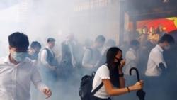 VOA连线(海彦):香港6.12反修例首次警民冲突半年 港人集会纪念