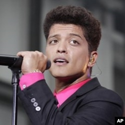 Bruno Mars during a performance in New York City (file photo)