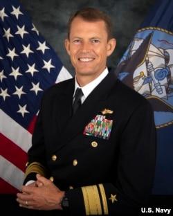 美国海军公布的海军少将史达曼照片。据报道,史达曼曾在2020年11月访问台湾。