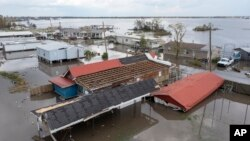 Khu Lafourche Parish, Louisiana, bị ngập sâu ngày 31/8/2021.