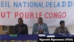 La DDC applaudit la foi sur le financement des partis politiques, à Brazzaville, 11 février 2017. (VOA/Ngouela Ngoussou)