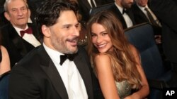 FILE - Joe Manganiello, left, and Sofia Vergara attend the 67th Primetime Emmy Awards.