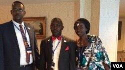 Bamwe mu Barundi n'Abanyarwanda ba YALI bahuye na Obama