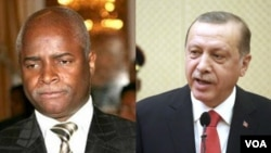 Ministro do Interior de Angola, Ângelo Veiga Tavares (esq), Presidente da Turquia Recep Tayyip Erdoğan