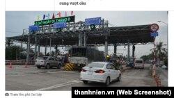 Trạm thu phí ở thị xã Cai Lậy, Tiền Giang